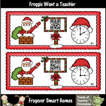 Time--Must Be Time for Santa Fun with QR Codes (O'Clock/Half Past)