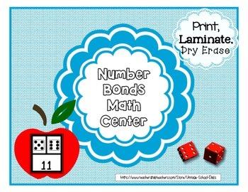 Math Center Number Bonds Fact Families 1st 2nd grade Works