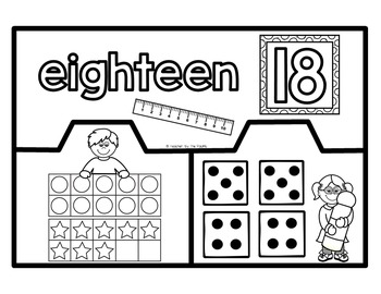 Math Center: Number Puzzles 11 – 20 - Ten Frames and Dice