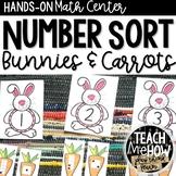 Math Center: Number Sense, Number Sort, Easter, 0-20
