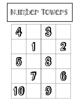 Math Center Number Towers