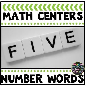 Math Center Number Words Freebie