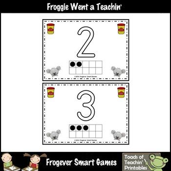 Math Center--Numbers Down Under 1 to 10 Play Dough Mats (koalas)