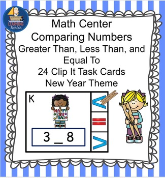 Math Center  Numbers Less Than, Greater Than, Equal To,  New Year Kids