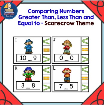 Math Center  Numbers Less Than, Greater Than, Equal To, Sc