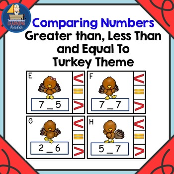 Math Center  Numbers Less Than, Greater Than, Equal To, Tu