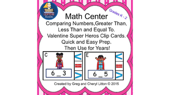 Math Center  Numbers Less Than, Greater Than, Equal To, Va