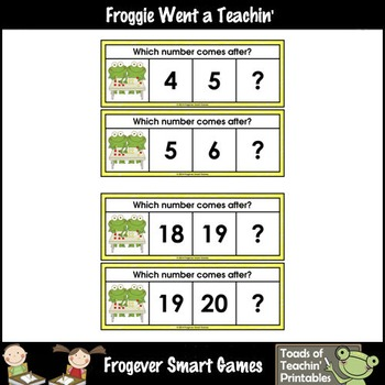 Math Center--Numbers are Frogtastic What Comes After? Ten Frames & Numbers