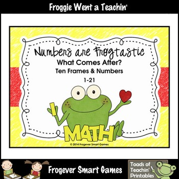 Math Center--Numbers are Frogtastic What Comes After? Ten