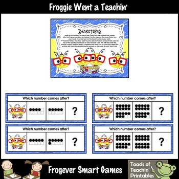 Math Center--Numbers are Bee-rrific What Comes After? Ten Frames & Numbers