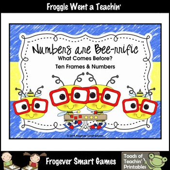 Math Center--Numbers are Bee-rrific What Comes Before? Ten