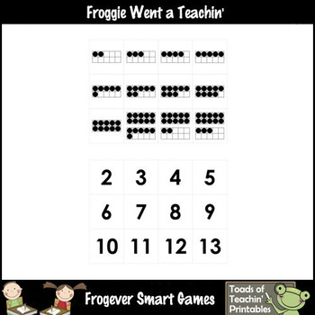 Math Center--Numbers are Fun What Comes After? Ten Frames & Numbers