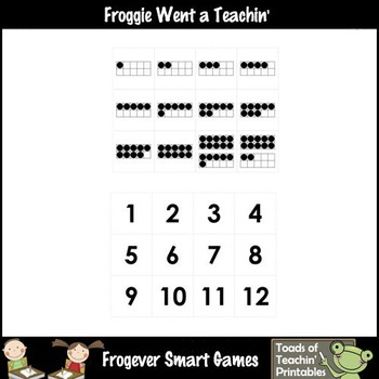 Math Center--Numbers are Fun What Comes Between? Ten Frames & Numbers