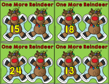 Math Center: One More One Less Reindeer