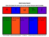 Math Center Organization