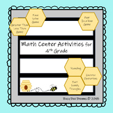 Math Center Pack for 4th Grade
