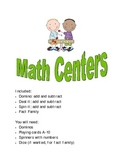Math Center Packet