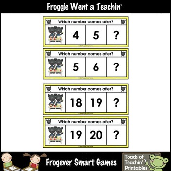Math Center--Panther Pete Loves Numbers What Comes After? Ten Frames/Numbers