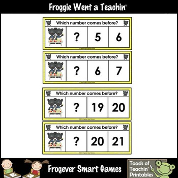 Math Center--Panther Pete Loves Numbers What Comes Before? Ten Frames/Numbers