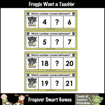 Math Center--Panther Pete Loves Numbers What Comes Between? Ten Frames/Numbers