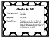Math Center Partner Games