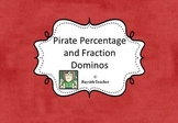 Math Center Pirate Percentage & Fraction Dominoes
