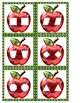 Math Center Preschool Toddler Sparkly Apple Shape Match Envelope Game