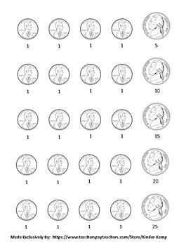 12 Math Center Printable's Counting By Fives.