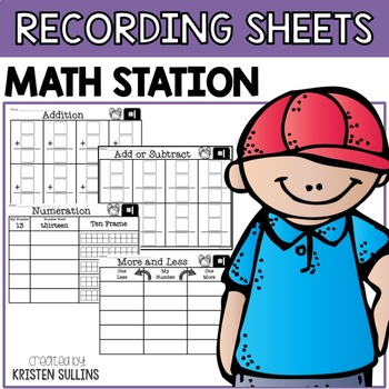Math Center Recording Sheets
