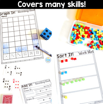 Math Center Recording Sheets for Hands On Centers