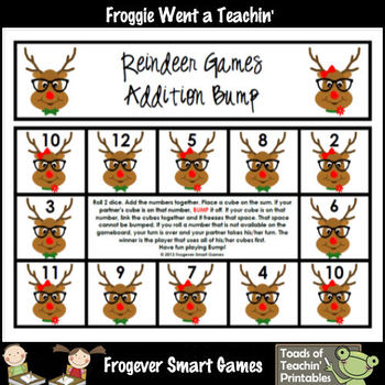 Addition/Subtraction--Reindeer Games (Bump Games Bundle)