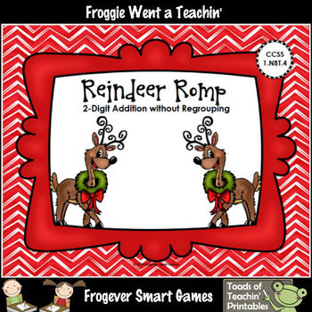 Addition--Reindeer Romp (2-Digit Addition without Regrouping)