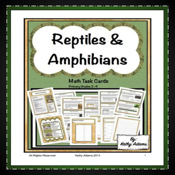 Reptiles and Amphibians Math Task Cards