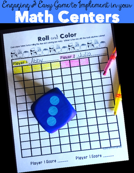 Math Center: Roll, Add, & Color!