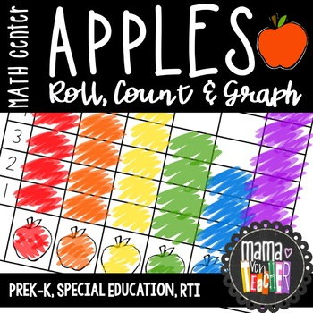 Math Center: Roll, Color, Count & Graph, PreK-1