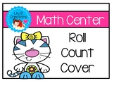 Math Center Roll Count Cover - Cat Theme