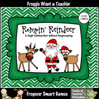 Subtraction--Rompin' Reindeer (2-Digit Subtraction Without Regrouping)