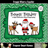 "2 Digit Subtraction Without Regrouping -- ""Rompin' Reindeer"""
