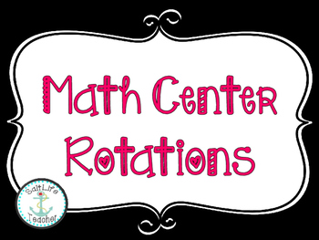 Math Center Rotation