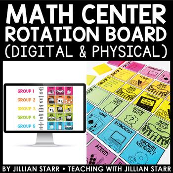 Math Center Rotation Board (Digital & Physical)