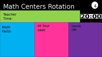 Math Center Rotation Boards with Timers!