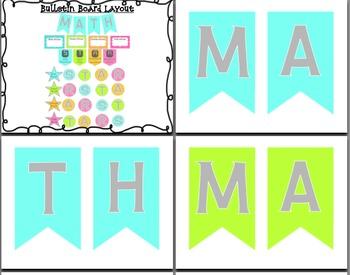 Math Center Rotation Bulletin Board