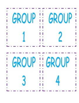 Math Center Rotation Cards