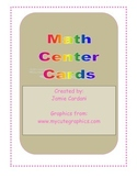 Math Center Rotation Cards