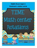 Math Center Rotation Cards and Bookmarks {FREEBIE}