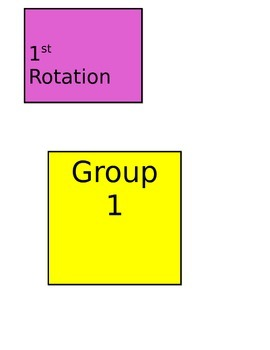 Math Center Rotation Signs