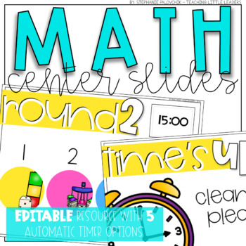 Math Center Rotation Slides {Editable and with Automatic Timers}