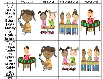 Math Center Rotations (EDITABLE with Pictures)