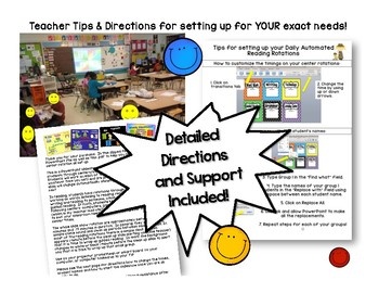 Math Center Rotations Editable Powerpoint Bright Smiles Design