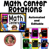 Math Center Rotations Editable Powerpoint iPhone Theme